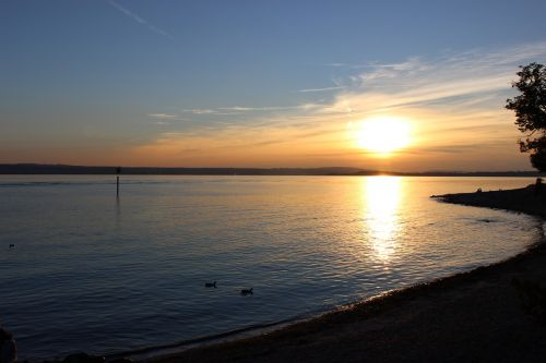 hagnau lake constance sunset