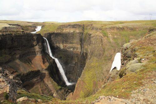 grannifoss waterfall iceland