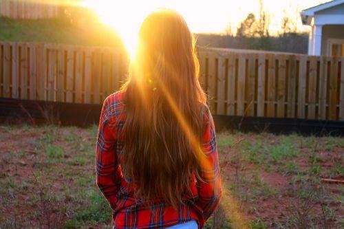 hair sunlight happy