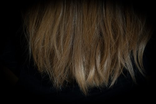 hair  hair tips  blond