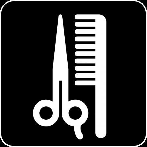 plaukai,supjaustyti,šukos,žirklės,salonas,kirpykla,informacija,kirpimas,šukuosenos,kirpykla,šukuosenos,ženklas,simbolis,nemokama vektorinė grafika
