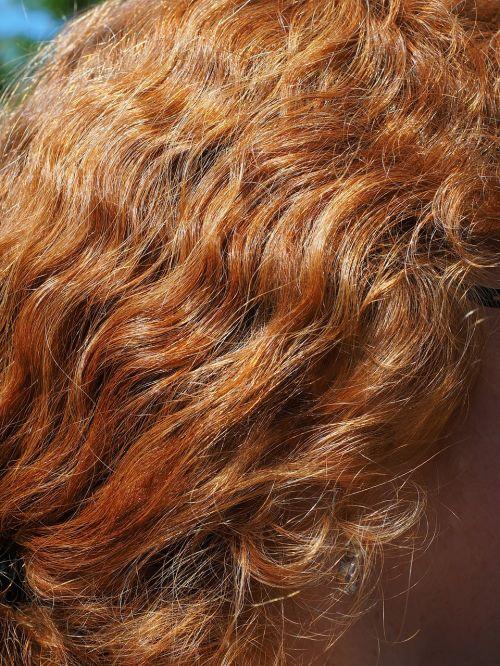 hair red shimmer