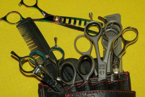hairdresser scissors combs