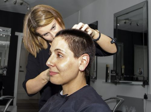 hairdresser haircut hair