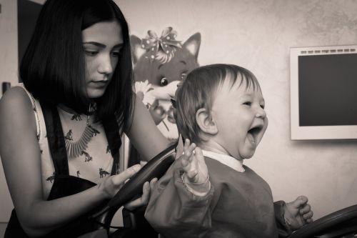 hairdresser haircut kid