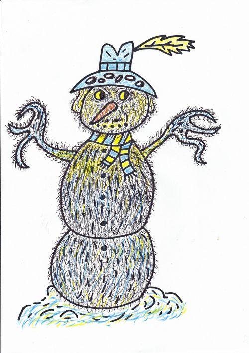 Hairy Snowman