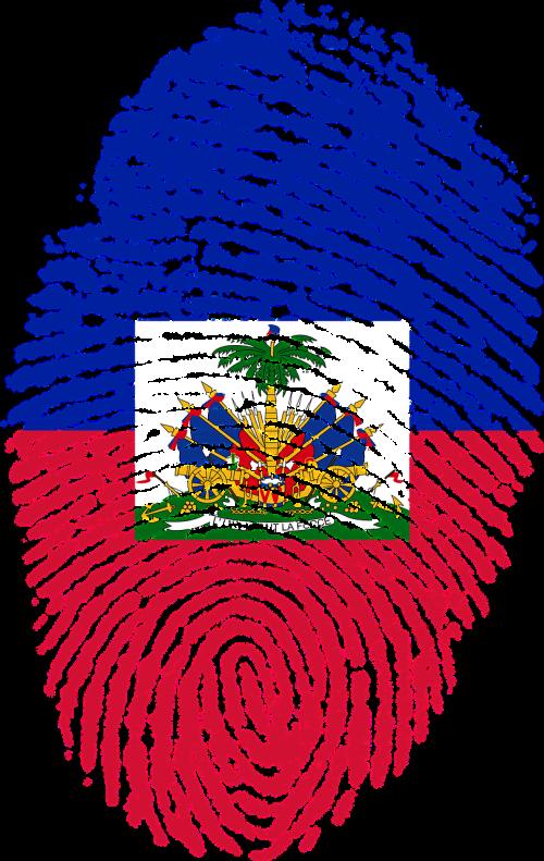 haiti flag fingerprint