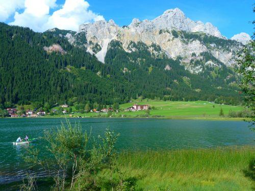 haldensee lake mountains