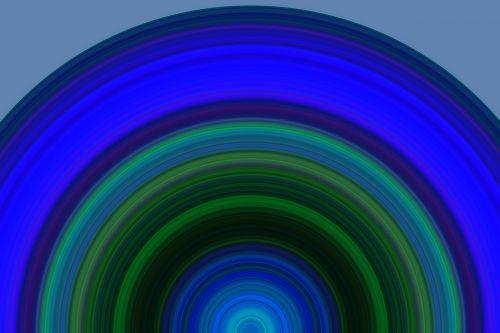 half circle background artistically