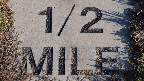 half mile marker marathon marker half mile