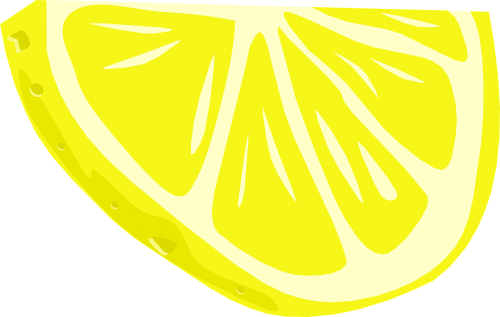 half slice of lemon fruit food
