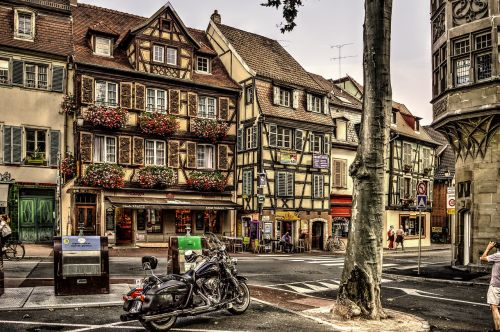 half-timbered houses colmar city