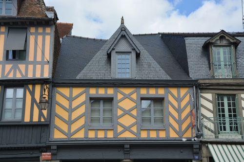 half-timbered houses city centre dol de bretagne
