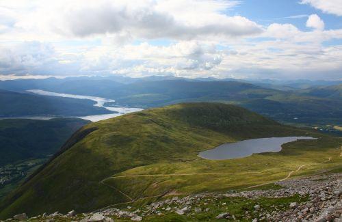 half-way lochan loch eil scotland