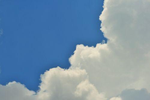 Half White Half Blue Sky