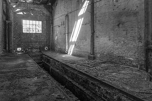 hall  factory hall  old