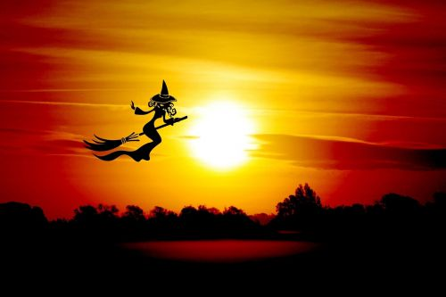 halloween the witch broom