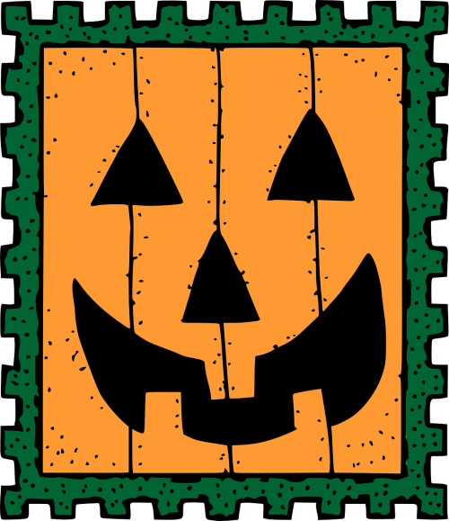 halloween post stamp