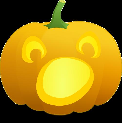 halloween pumpkin scared
