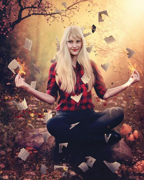 halloween fire photoshop