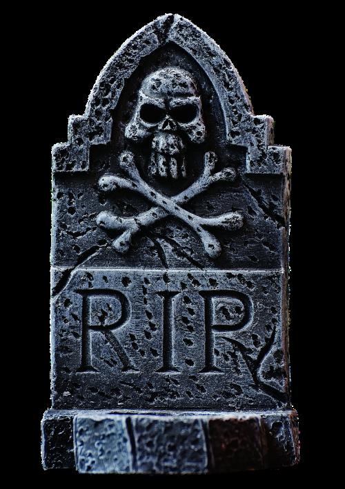 halloween tombstone grey