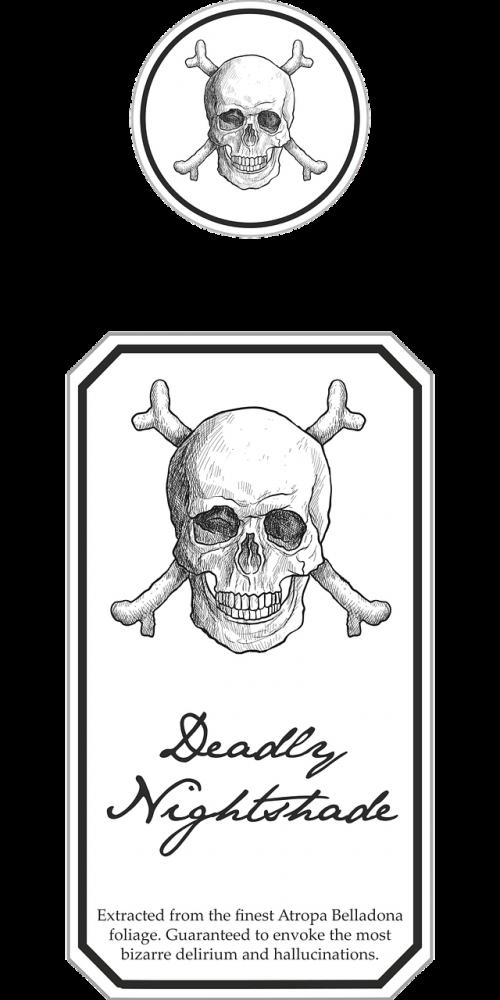 halloween poison label