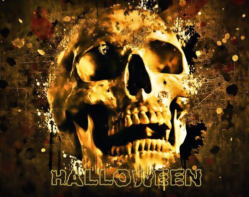 halloween skull halloween party
