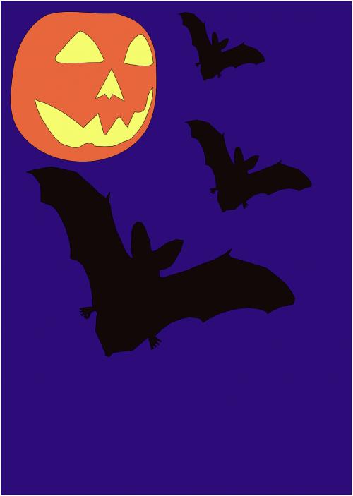 halloween bats night