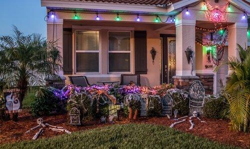 halloween  decorations  grave yard
