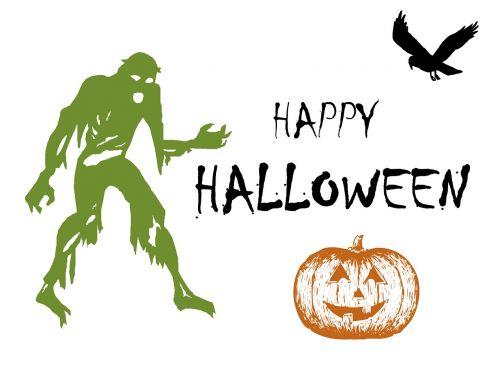 halloween zombie raven
