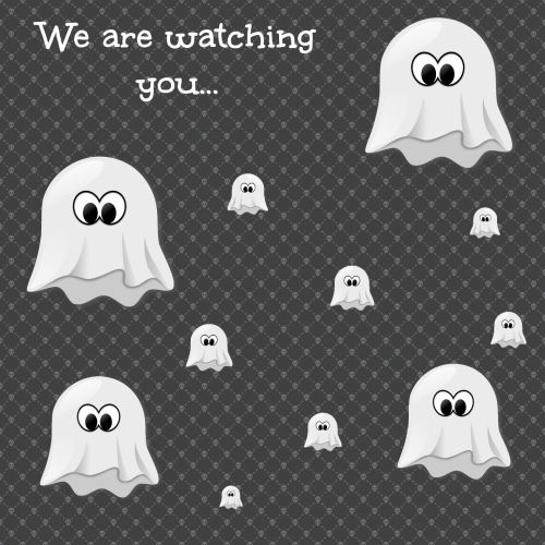 Halloween Ecard With Ghosts