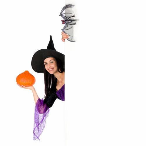 Halloween Woman And Copyspace