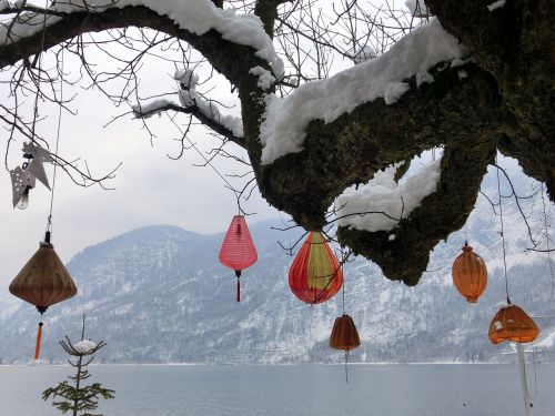 hallstatt lake lampion