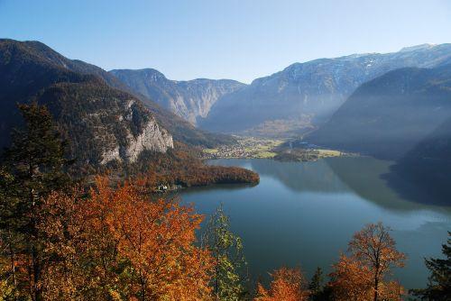 hallstatt hallstätter lake autumn