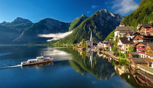 hallstatt  austria  bergsee