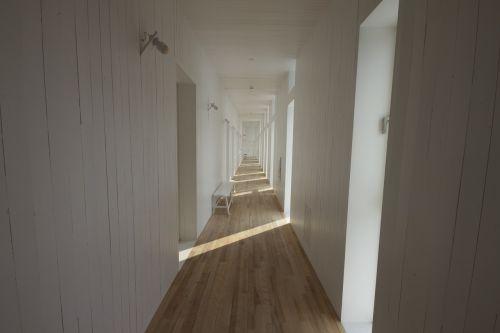 hallway corridor white