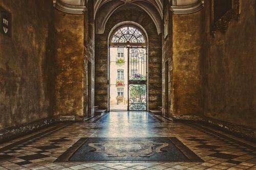 hallway  corridor  lobby