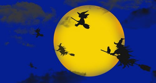 haloween night witches