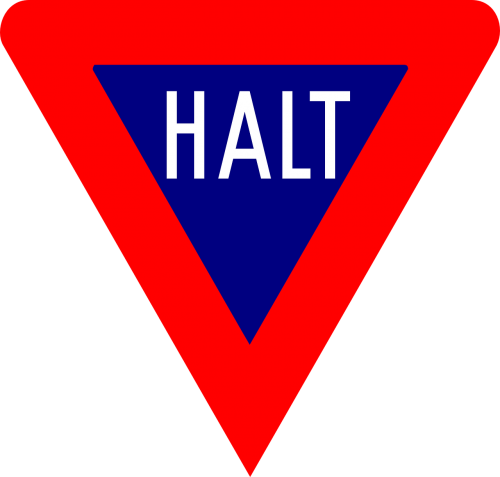 halt stop sign