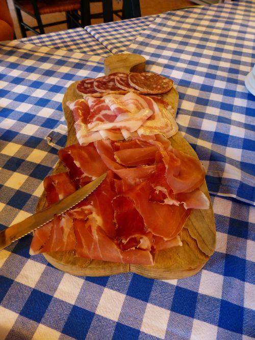 ham sausage salami
