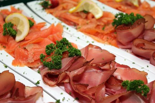 ham salmon parsley