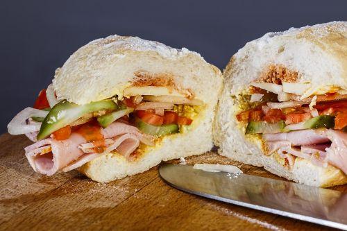 ham sandwich snack sandwich
