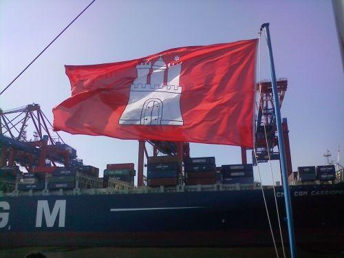 hamburg flag boat trip