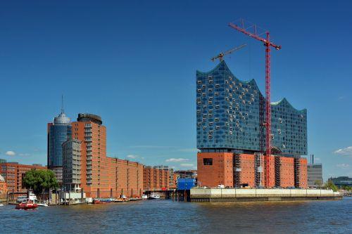 hamburg,elbe philharmonic hall,speicherstadt,port,site,crane