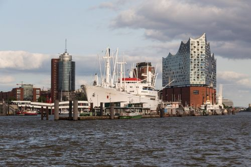 hamburg skyline port city