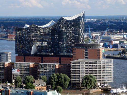 hamburg elbphilharmonie-aerial view elbe philharmonic hall