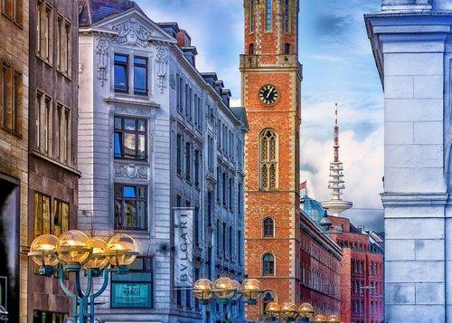 hamburg  europe  old post