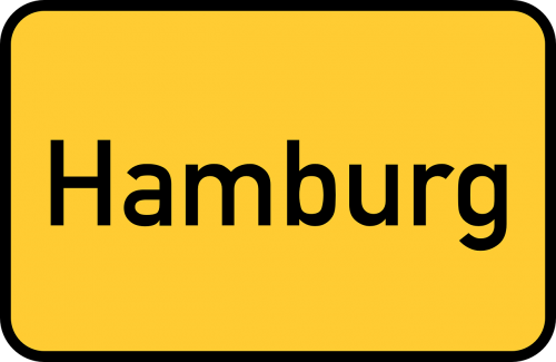 hamburg town sign city limits sign