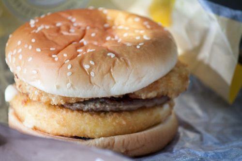 hamburger burger sesame seed