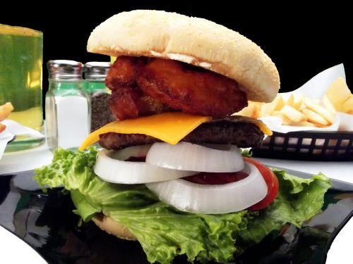 hamburger sandwich fast food
